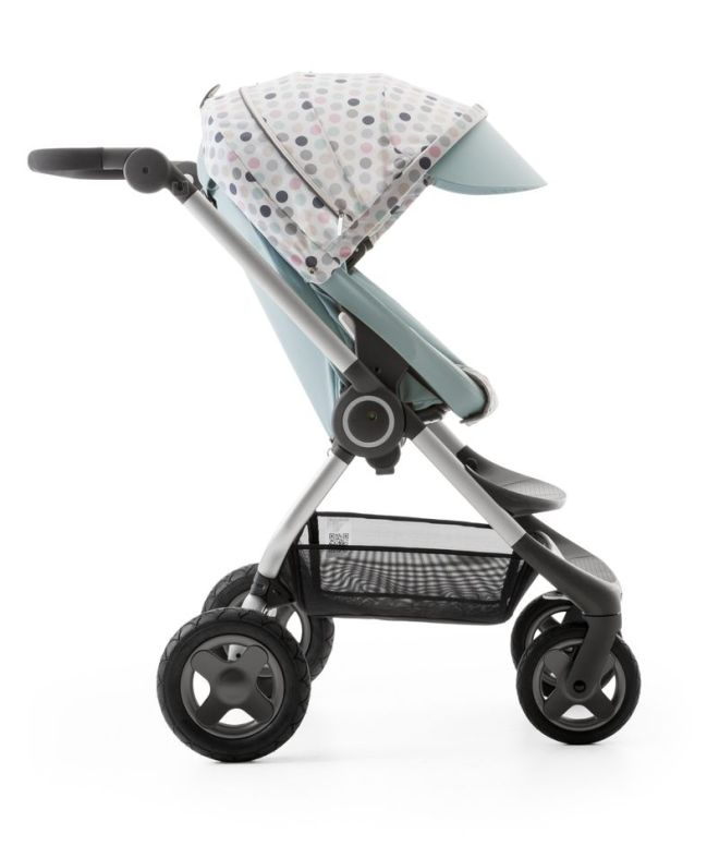 Stokke Scoot Aqua Blue with Style Kit Soft Dot 140109-8I3871