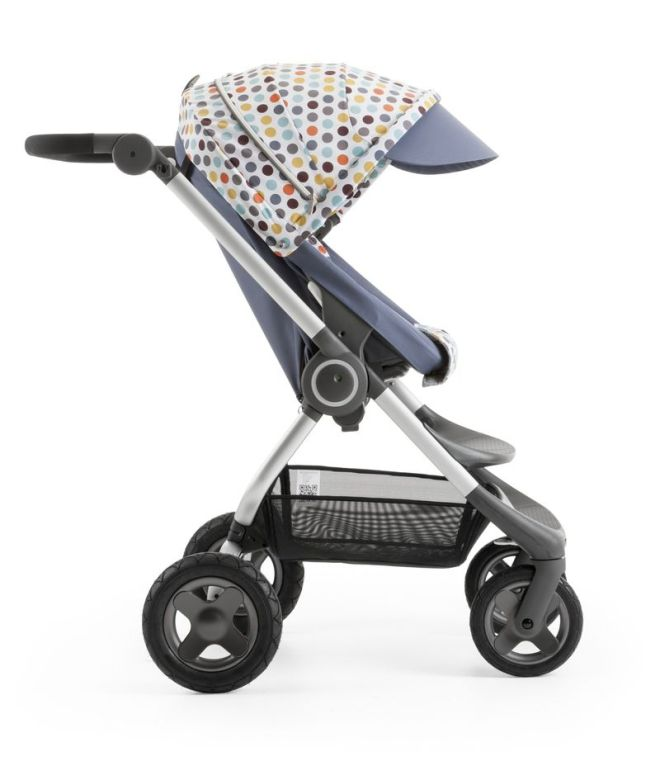 Stokke Scoot Slate Blue with Style Kit Retro Dot 140109-8I3868